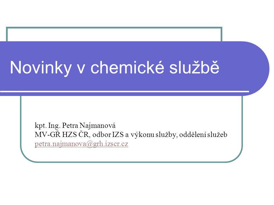 Novinky v chemické službě