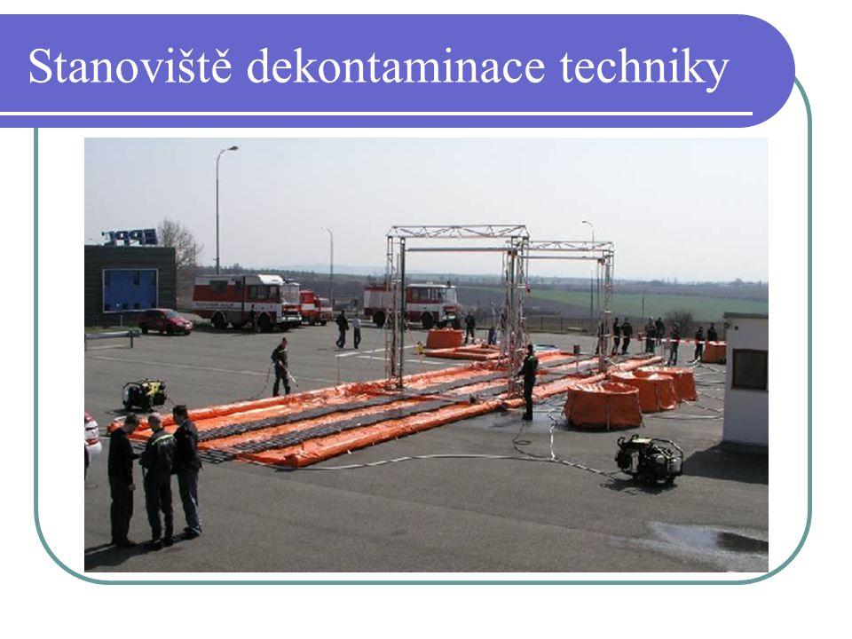 Stanoviště dekontaminace techniky