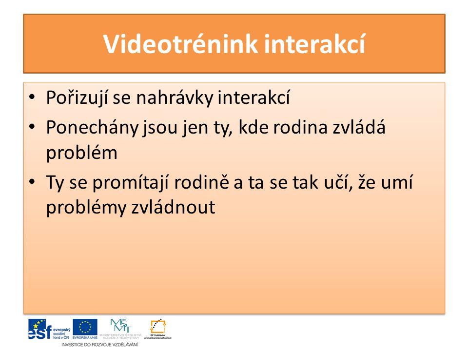 Videotrénink interakcí
