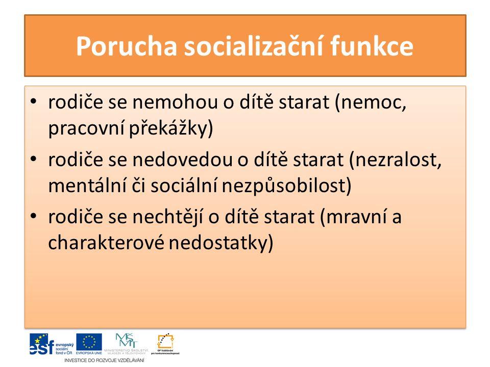 Porucha socializační funkce