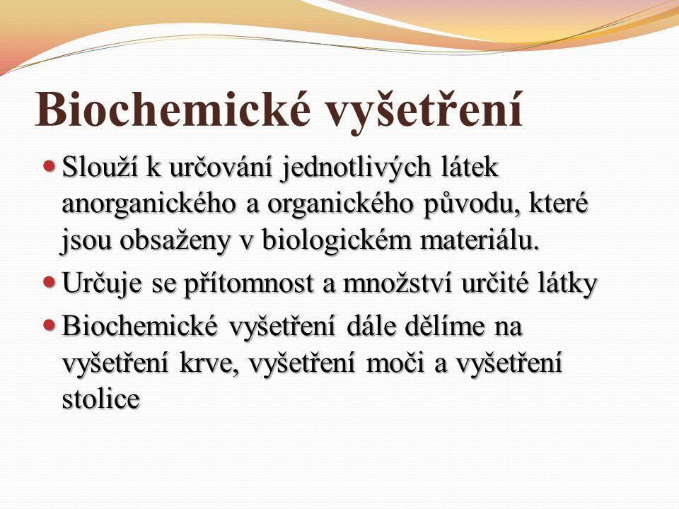 Biochemické vyšetření