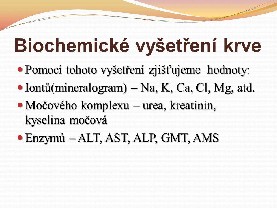 Biochemické vyšetření krve