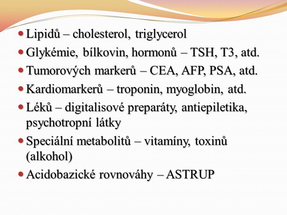 Lipidů – cholesterol, triglycerol