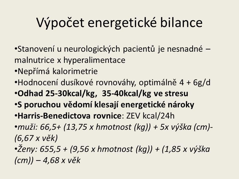 Výpočet energetické bilance