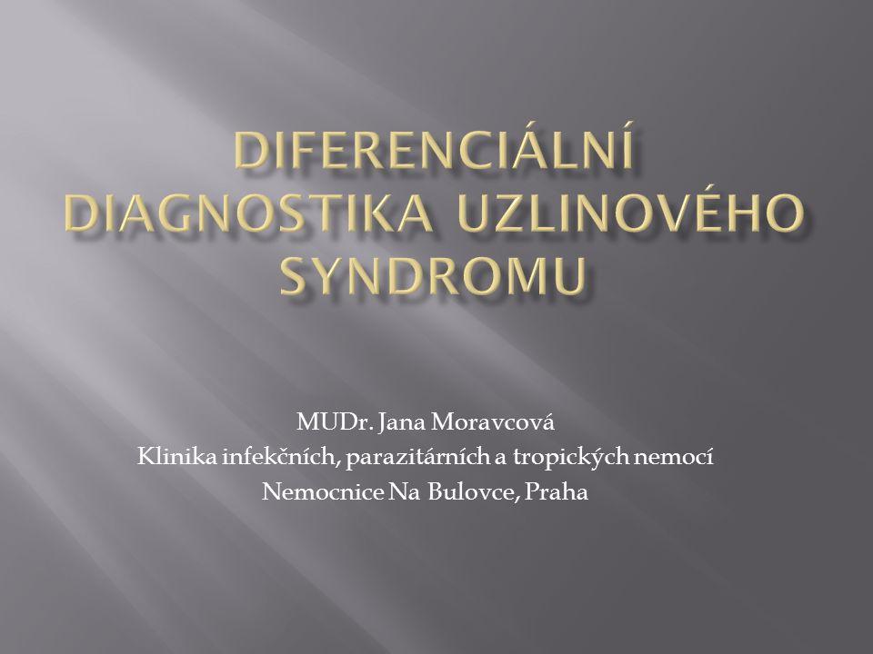 Diferenciální diagnostika uzlinového syndromu