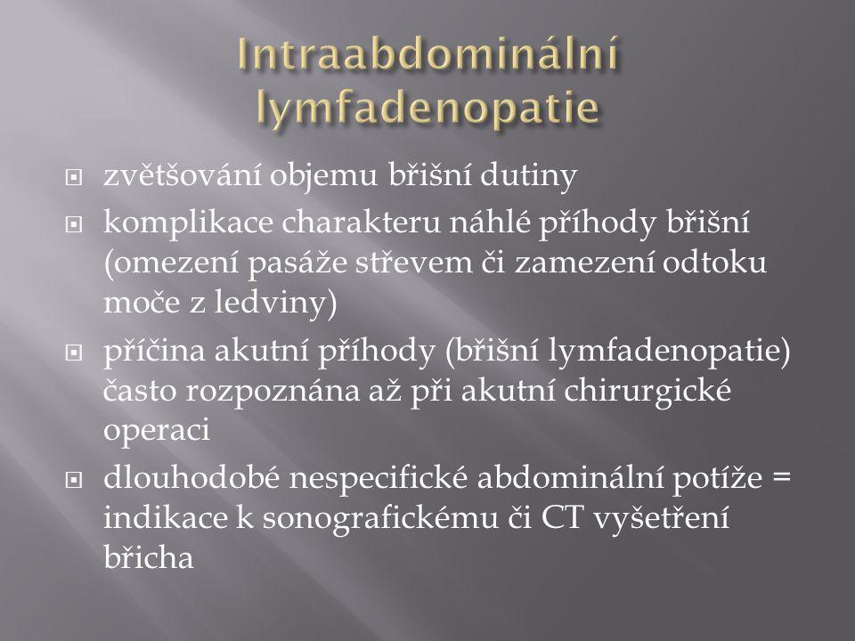 Intraabdominální lymfadenopatie