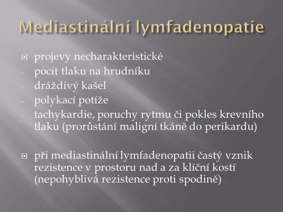 Mediastinální lymfadenopatie