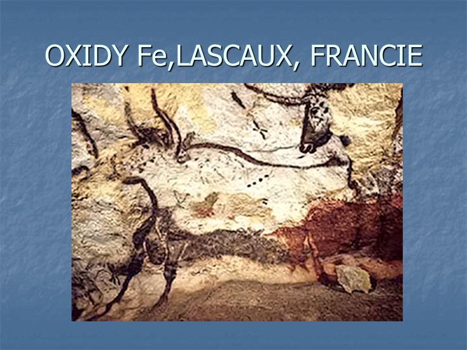 OXIDY Fe,LASCAUX, FRANCIE