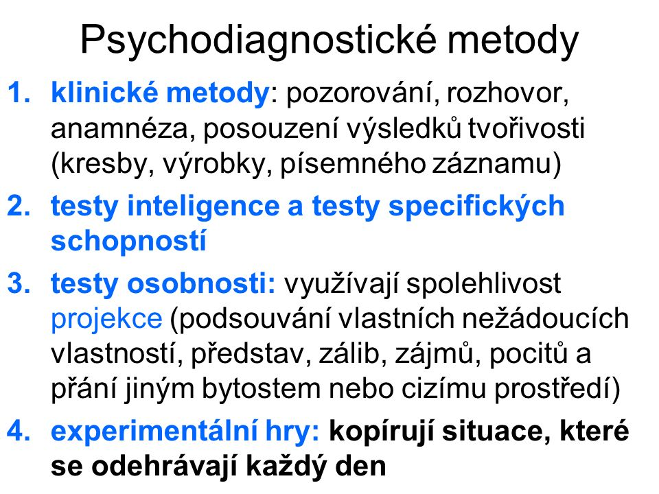 Psychodiagnostické metody