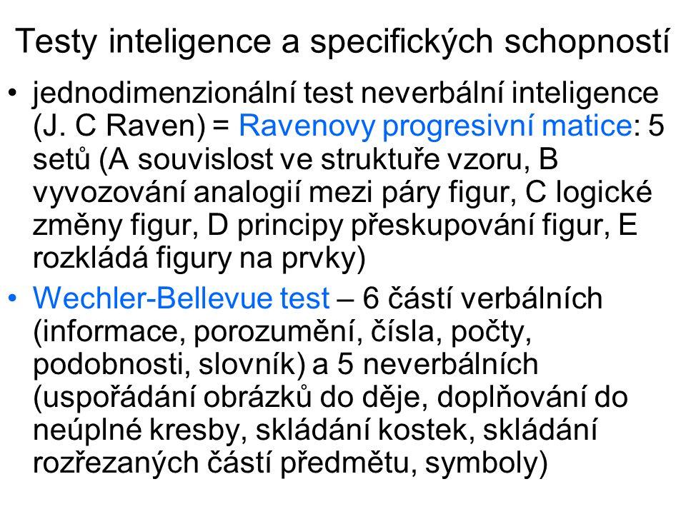 Testy inteligence a specifických schopností
