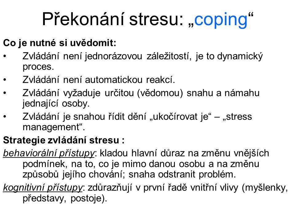 """Překonání stresu: """"coping"""