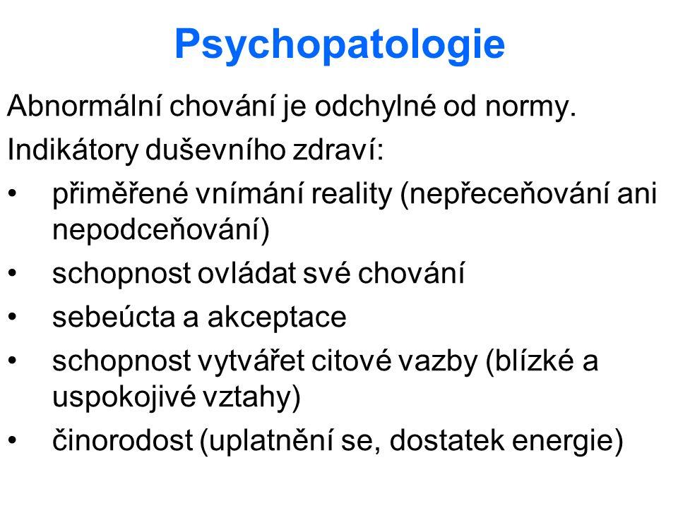 Psychopatologie Abnormální chování je odchylné od normy.