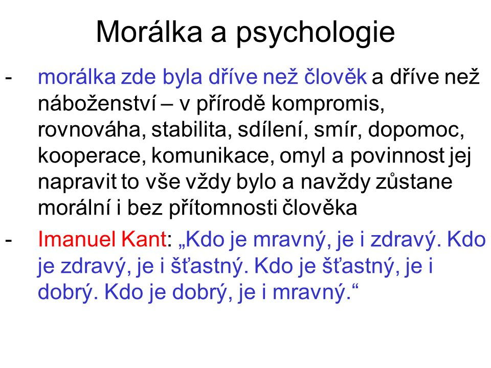 Morálka a psychologie