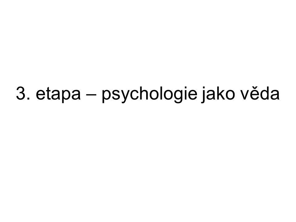 3. etapa – psychologie jako věda