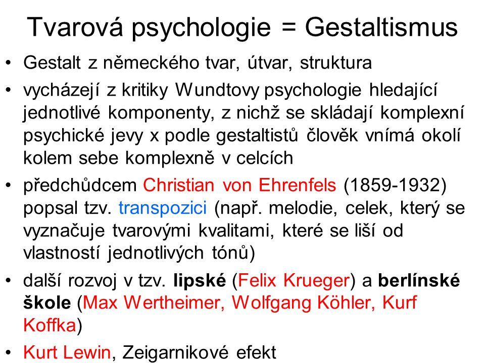 Tvarová psychologie = Gestaltismus