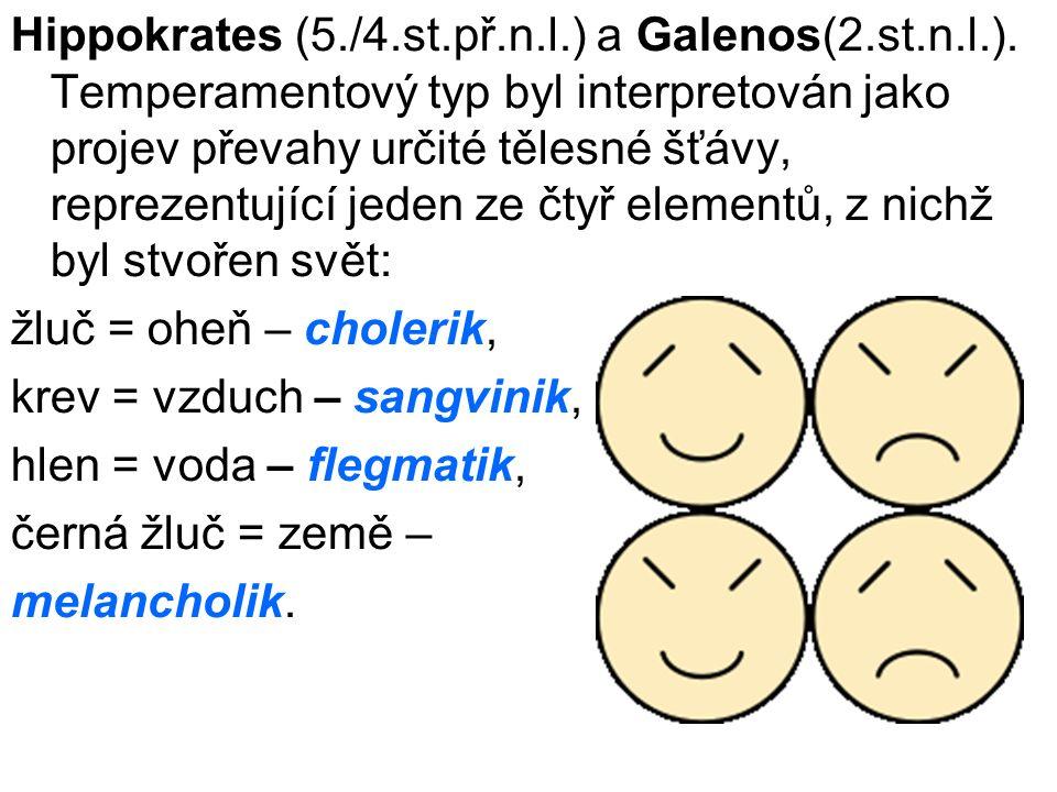 Hippokrates (5. /4. st. př. n. l. ) a Galenos(2. st. n. l. )