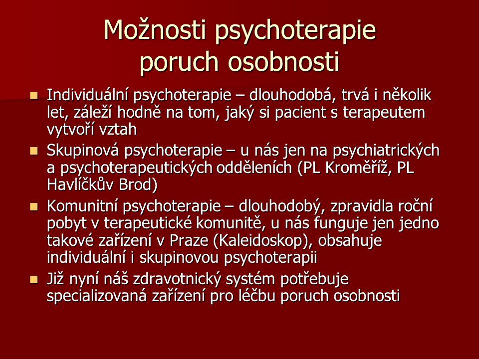 Možnosti psychoterapie poruch osobnosti
