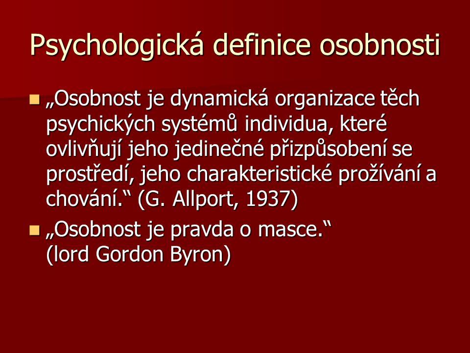 Psychologická definice osobnosti