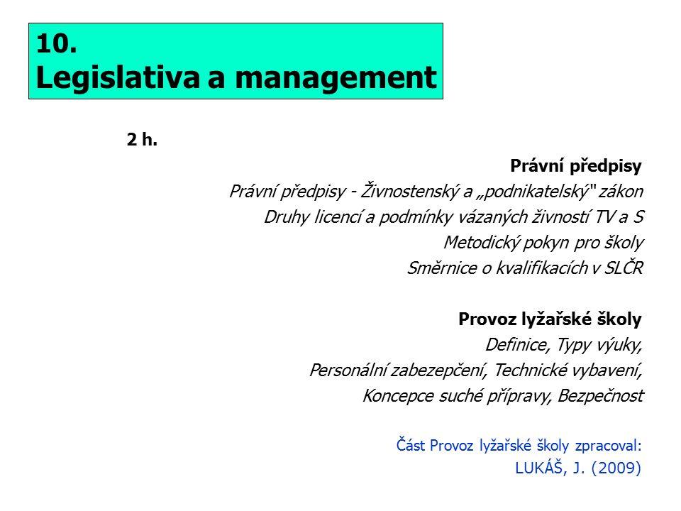 Legislativa a management