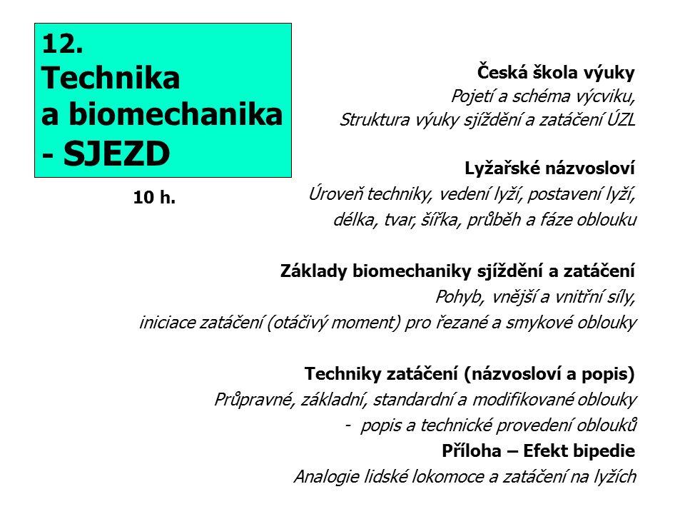 Technika a biomechanika - SJEZD 12. Česká škola výuky