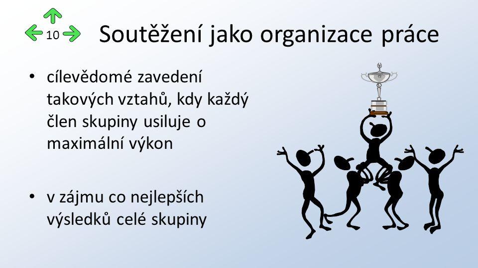 Soutěžení jako organizace práce