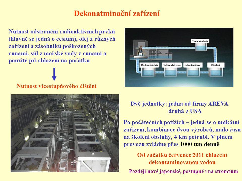 Od začátku července 2011 chlazení dekontaminovanou vodou