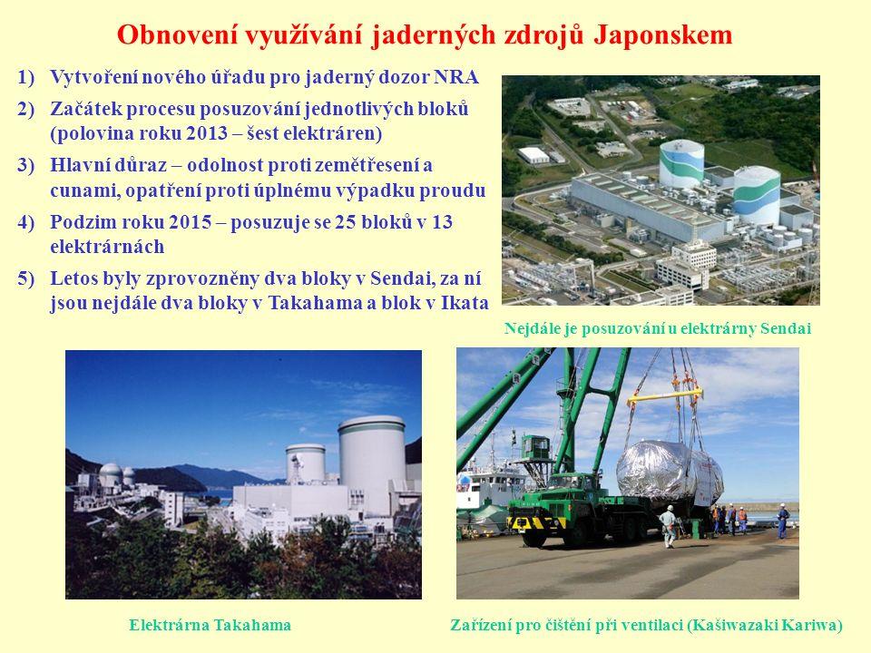 Obnovení využívání jaderných zdrojů Japonskem