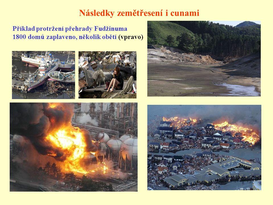 Následky zemětřesení i cunami