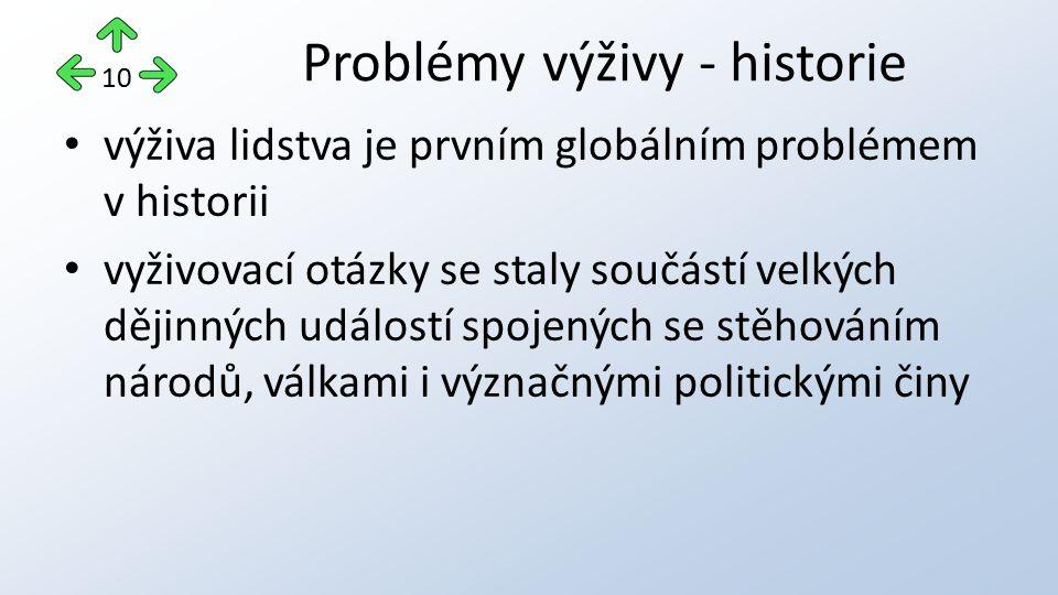 Problémy výživy - historie