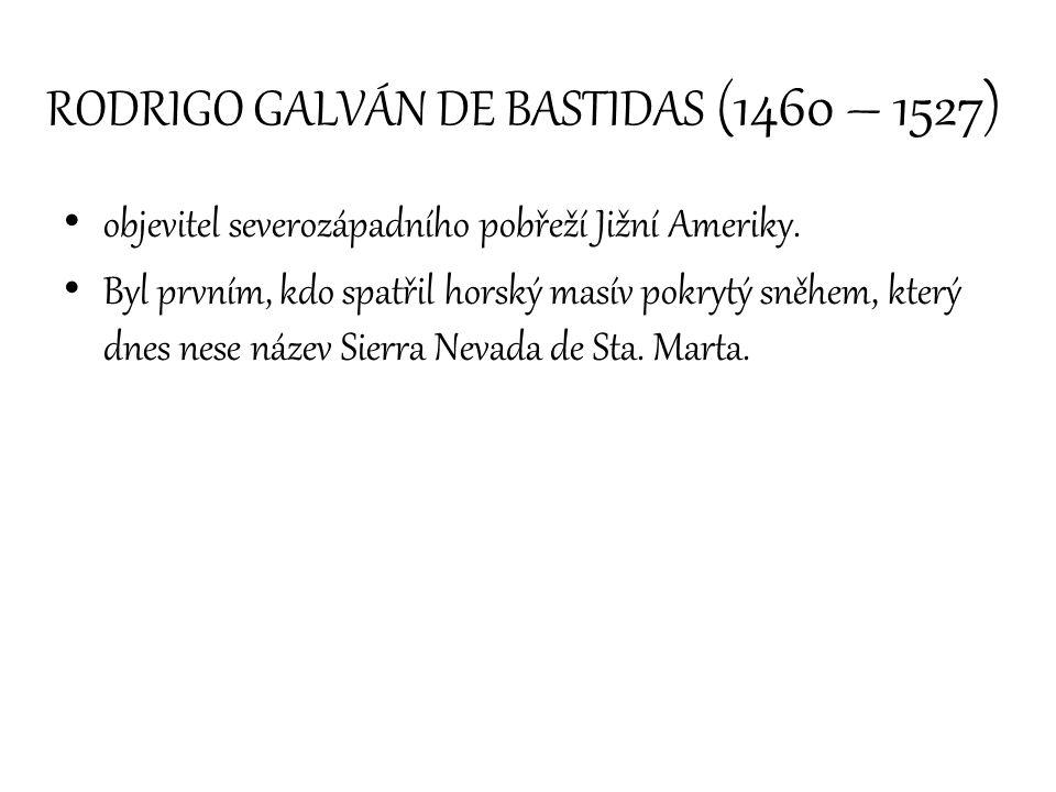 RODRIGO GALVÁN DE BASTIDAS (1460 – 1527)