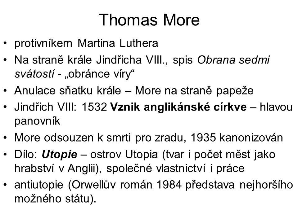 Thomas More protivníkem Martina Luthera