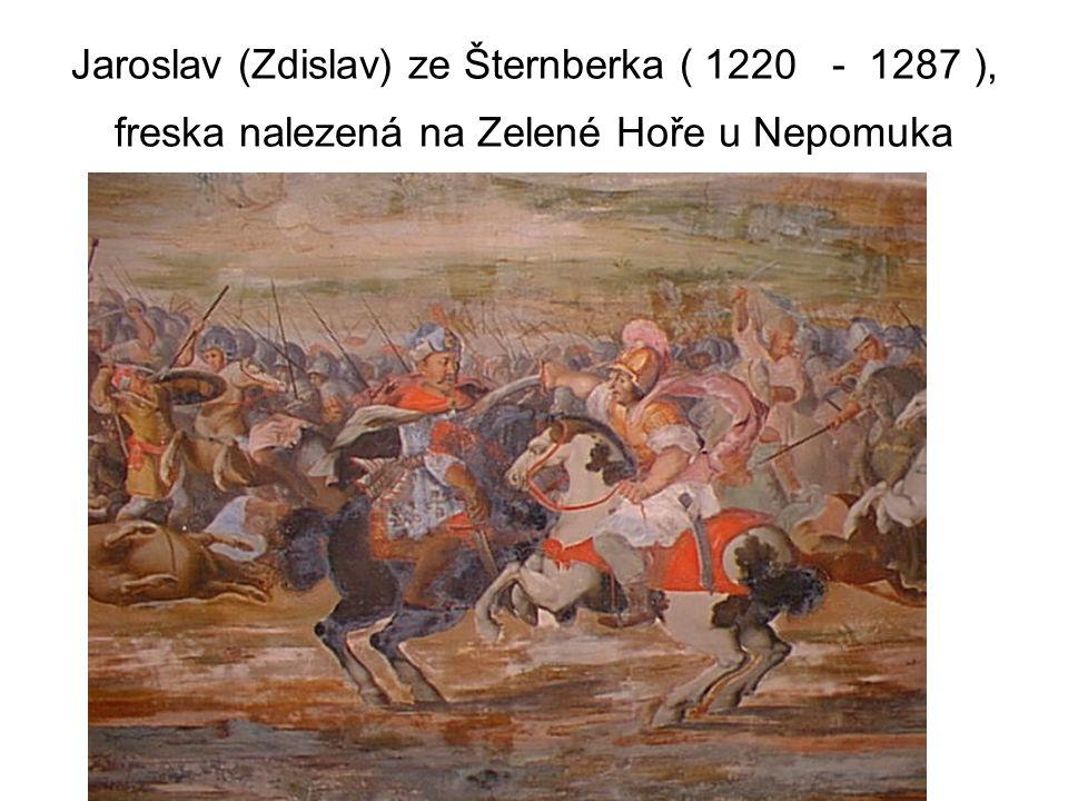 Jaroslav (Zdislav) ze Šternberka ( 1220 - 1287 ), freska nalezená na Zelené Hoře u Nepomuka
