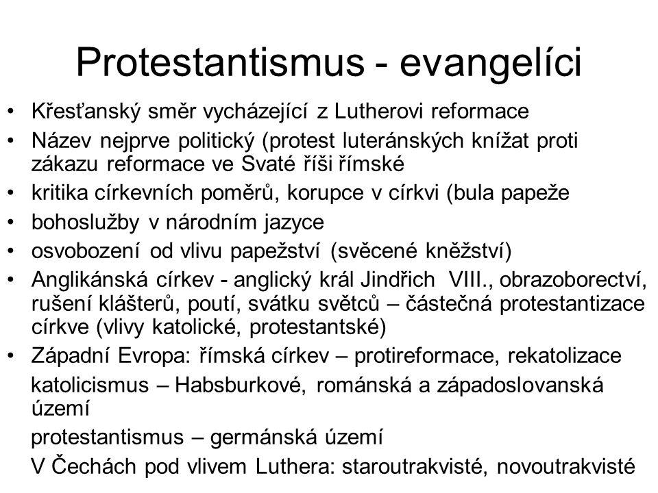 Protestantismus - evangelíci