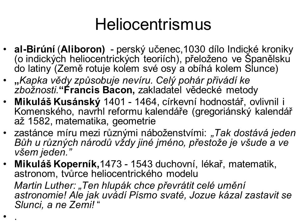 Heliocentrismus