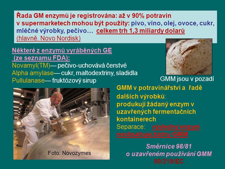 o uzavřeném používání GMM