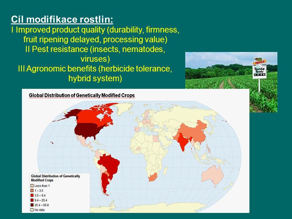 Cíl modifikace rostlin: