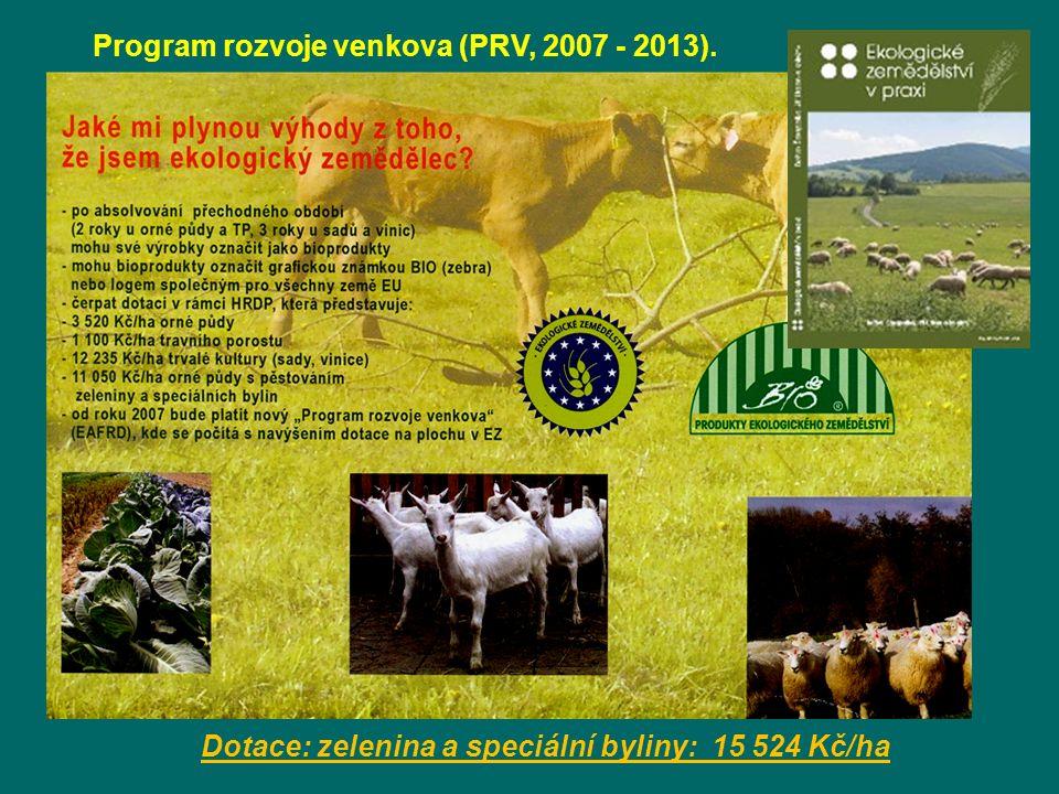 Program rozvoje venkova (PRV, 2007 - 2013).