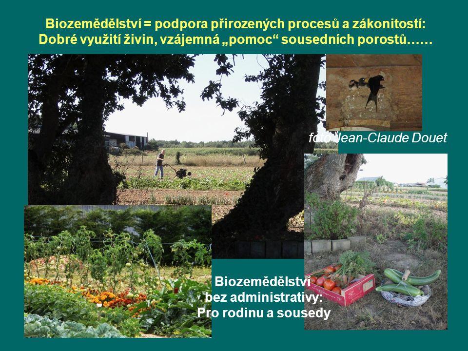 Biozemědělství = podpora přirozených procesů a zákonitostí: