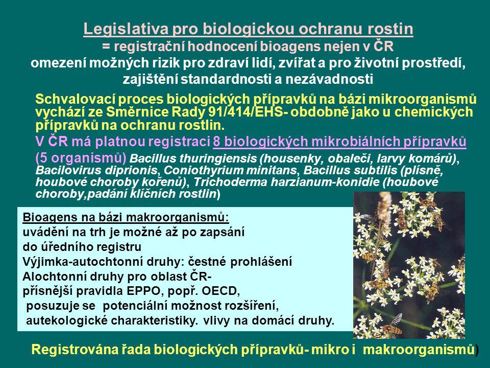 Registrována řada biologických přípravků- mikro i makroorganismů)