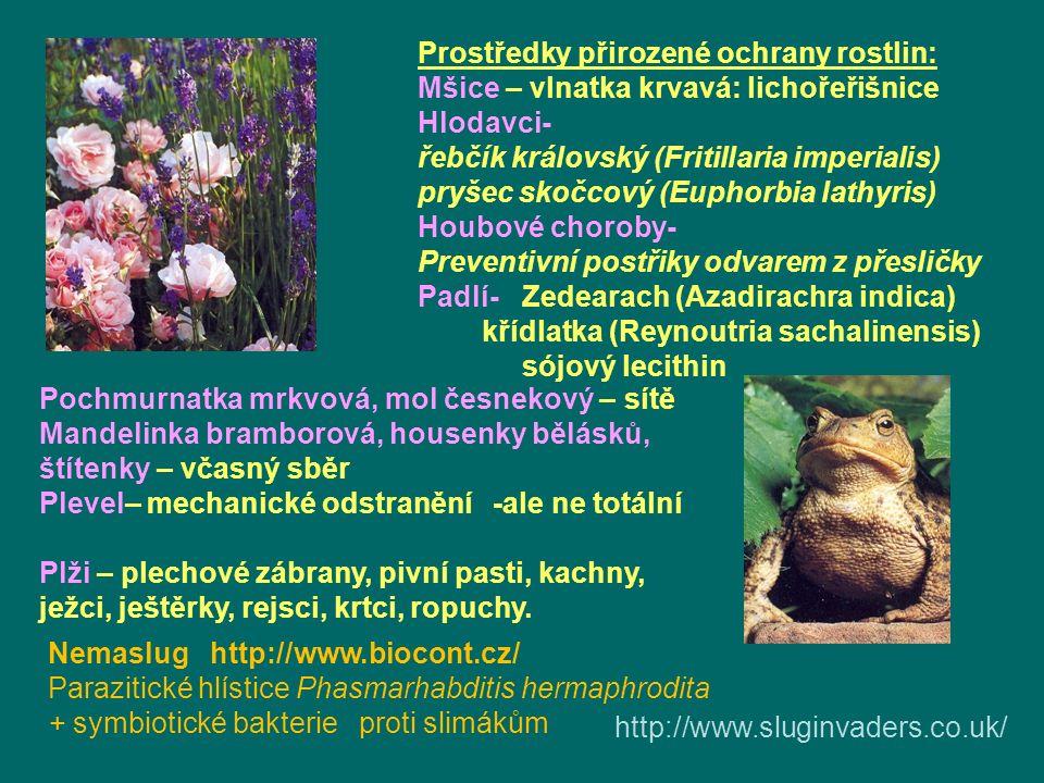 Prostředky přirozené ochrany rostlin: