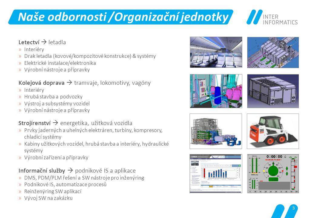 Naše odbornosti /Organizační jednotky