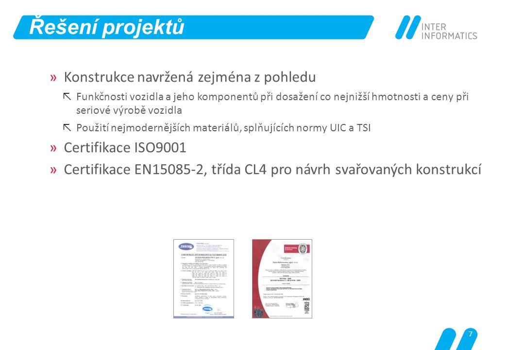 Řešení projektů Konstrukce navržená zejména z pohledu
