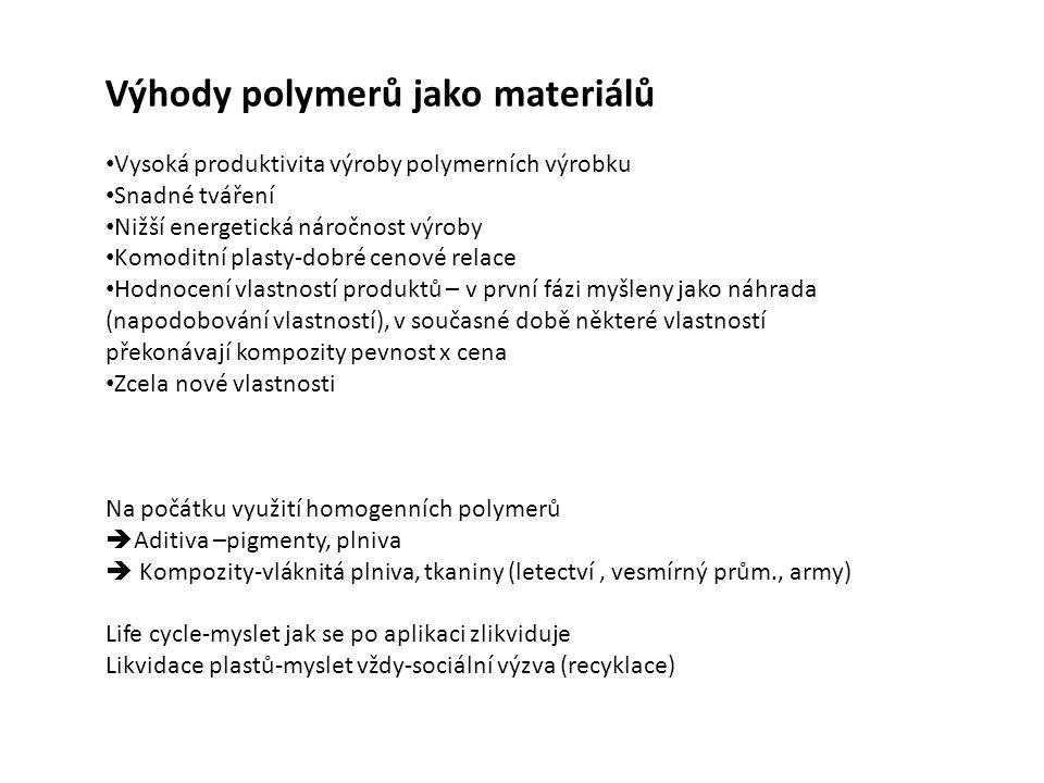 Výhody polymerů jako materiálů