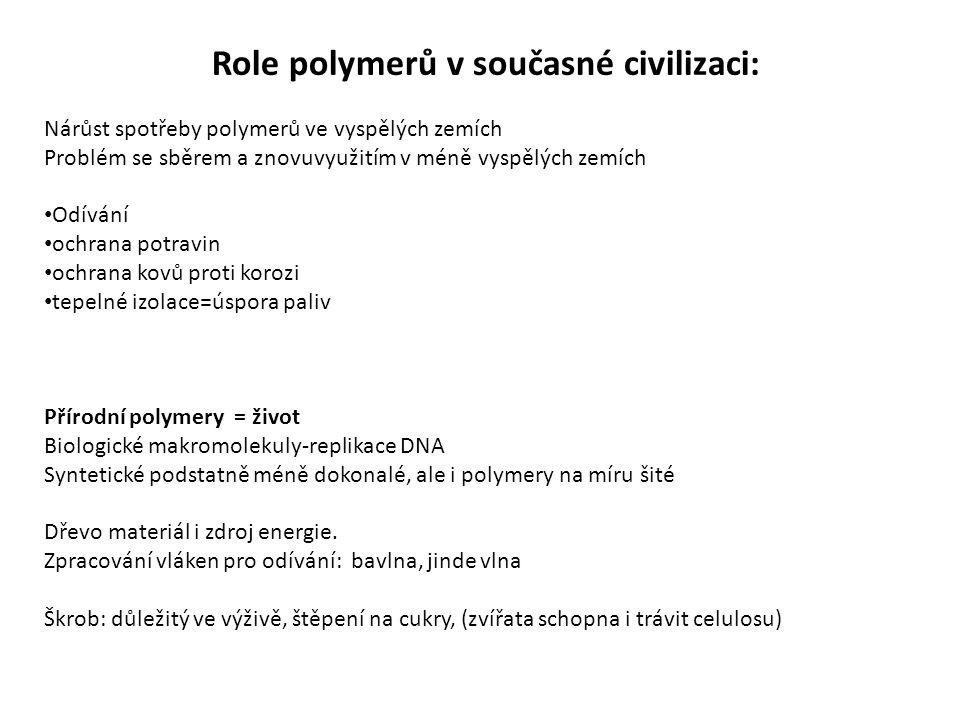 Role polymerů v současné civilizaci: