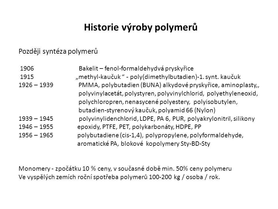Historie výroby polymerů