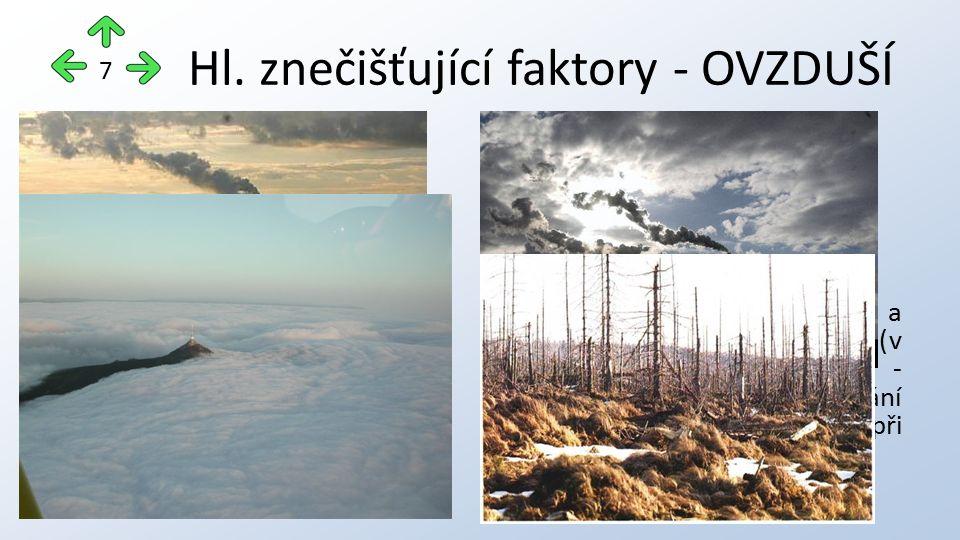 Hl. znečišťující faktory - OVZDUŠÍ