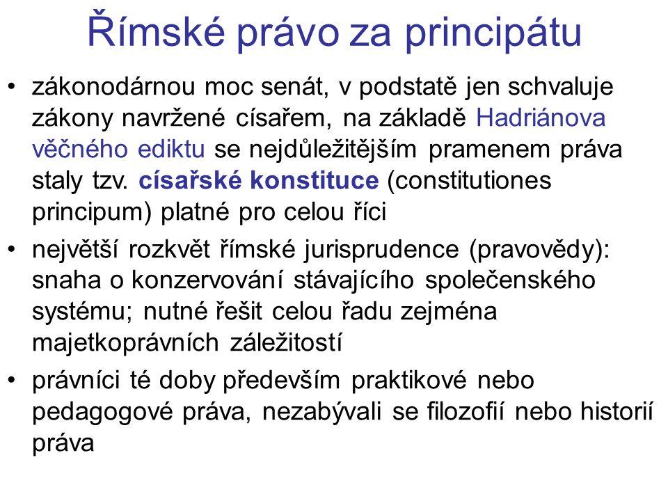 Římské právo za principátu