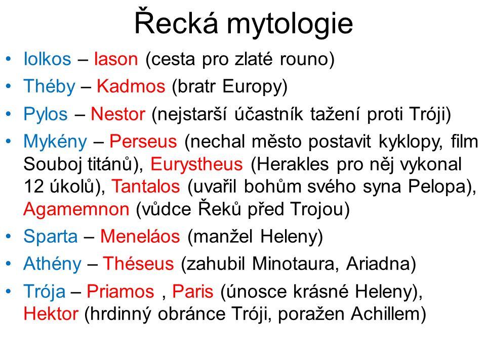 Řecká mytologie Iolkos – Iason (cesta pro zlaté rouno)