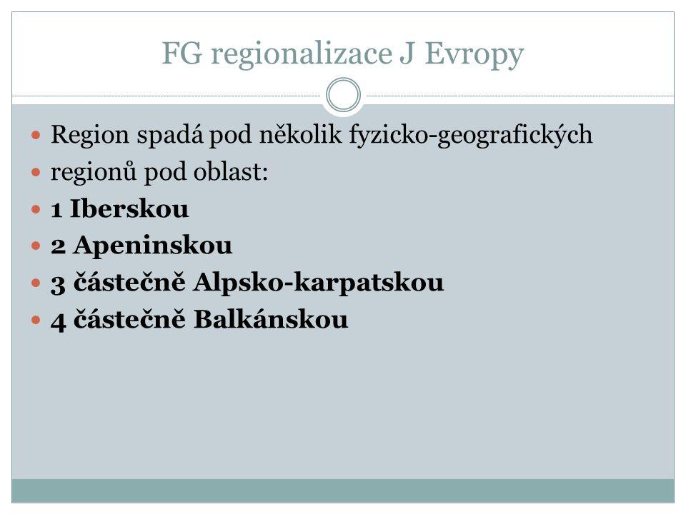 FG regionalizace J Evropy