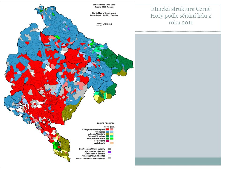 Etnická struktura Černé Hory podle sčítání lidu z roku 2011